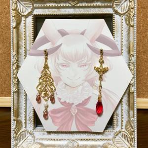 【アクセサリー】ピンクのうさぎ騎士