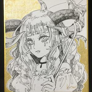 ミニ色紙(泣き虫角っ子)