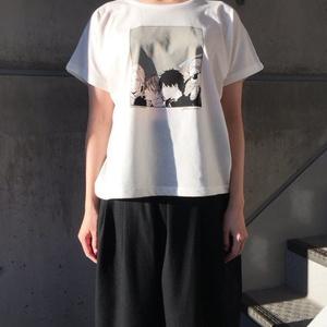 「ギヴン」ドルマンスリーブTシャツ<チャコール×カーキ>