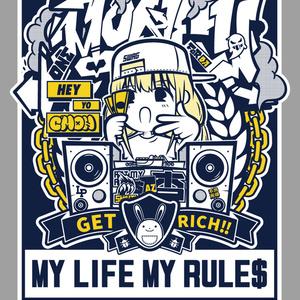 MY LIFE MY RULE$ Tシャツ(双葉杏)受注生産分