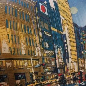 雨の銀座/東京夜景