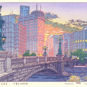 夕暮れの日本橋/東京夜景