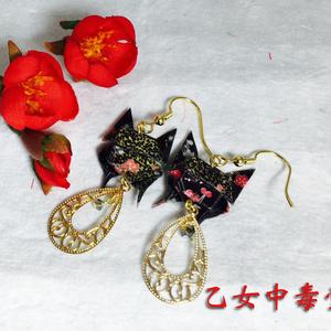 折り紙蝶ピアス