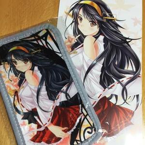 艦これ「榛名」クッションスマホポーチ+大判ポストカード