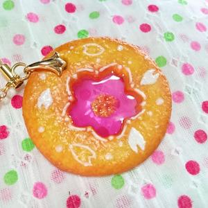 ステンドグラスクッキーストラップ*桜*