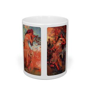 アルフォンス・ミュシャ『 四季 』(1896) マグカップ