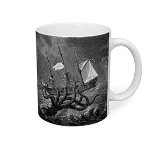 帆船を襲うクラーケン マグカップ
