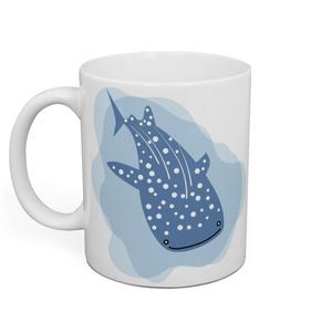泳ぐジンベイザメ マグカップ