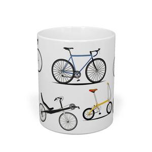 各種の自転車 マグカップ