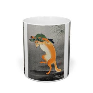 小原古邨『 踊る狐 』 マグカップ