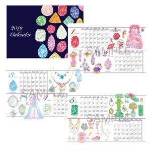 宝石とドレスのカレンダー2019