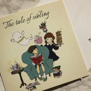 正方形ポストカード | The tale of sibling