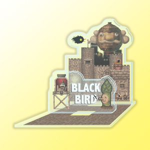 BLACK BIRD「滅びの街のアクリルジオラマ」