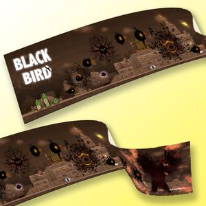 BLACK BIRD「黒鳥進化図マフラータオル」
