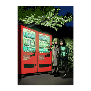 夜の自販機