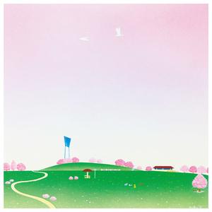 S-5 スクエアカード「四季-spring-」/三崎公園とマリンタワー