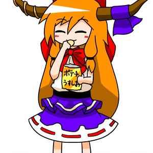 ポテチ萃香ちゃんアクキー