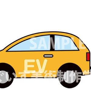 イラスト「電気自動車(EV)」