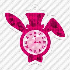 ウサギ時計 不思議の国のアリス風 キーホルダー
