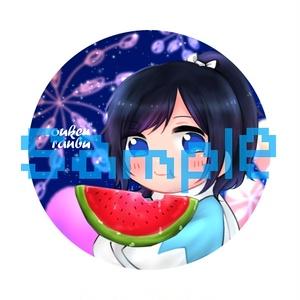 夏×安定【缶バッジ】