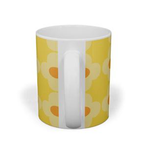黄色いお花のマグカップ