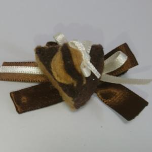 チョコレートケーキのリボンヘアクリップ(送料無料)