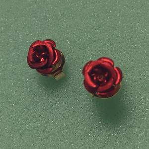 薔薇の1粒イヤリング/ピアス
