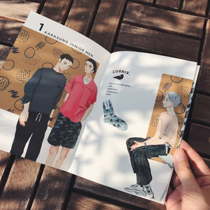 【HQ】烏野高校靴下ファッションイラスト本