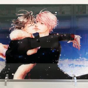 【期間限定・受注生産】 クロネコ彼氏 アクリルボード〈夜景〉