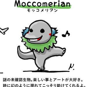 【オリジナル】25mm★パンキッシュモッコメリアン缶バッジ1