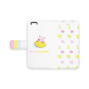 ぶたレモンiPhoneケース手帳型