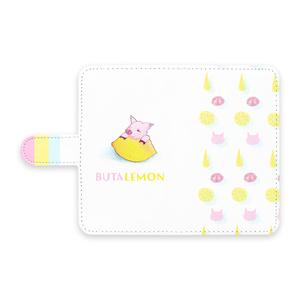 ぶたレモンAndroidケース手帳型