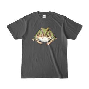 ベルツノガエルTシャツ ダークグレー