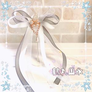 【刀剣乱舞イメージ】桜ドロップ♡シュガーリボンのポニーフック
