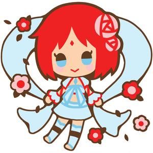 「少女神話」刺繍ストラップ