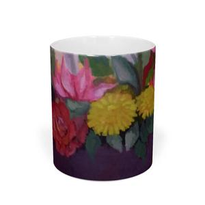 花のマグカップ