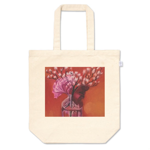 花のトートバッグ