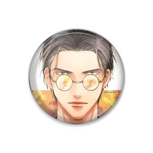 『秋:眼鏡男子』ピンバッジ