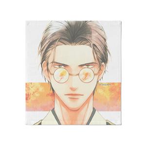 『秋:眼鏡男子』タオル - 大