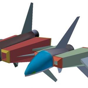 YM-Z80αアレッガ、YM-Z80βブレイザ 3Dモデル