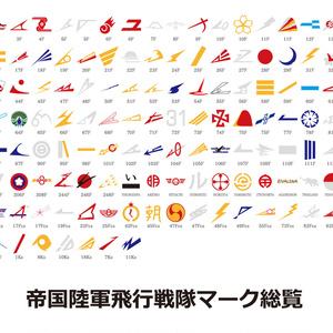 帝国陸軍飛行戦隊尾翼シンボル総覧素材(PNG型式/ai型式)