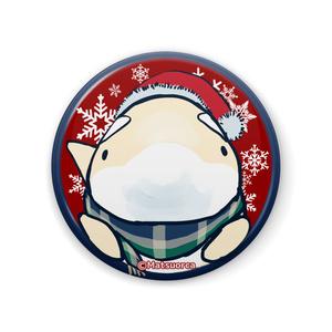 缶バッジ シャチ郎クリスマス