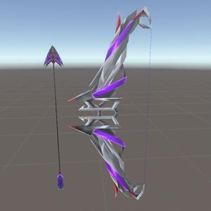 3Dモデル【黒き弓矢】