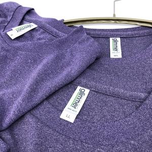 <速乾ドライ>【ミックスパープル】I LOVE 黒ネコTシャツ(あんしんBOOTHパック(匿名)で自宅から発送【ネコポス365円】)