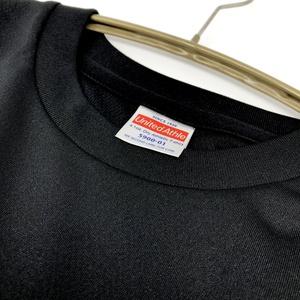 ※アウトレット※【ブラック】<速乾ドライ>エイと魚 Tシャツ(あんしんBOOTHパック(匿名)で自宅から発送【ネコポス365円】)