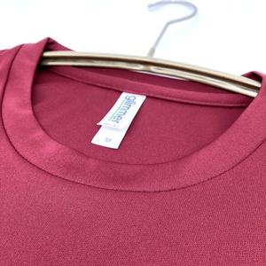 <速乾ドライ>【バーガンディ】でっかい黒ネコTシャツ【メンズMサイズ】(あんしんBOOTHパック(匿名)で自宅から発送【ネコポス365円】)