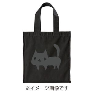 【ブラック】BIGスクエアトートバッグ よく見ると黒ネコ (あんしんBOOTHパック(匿名)で自宅から発送【送料一律370円】)