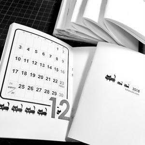 【SALE】 2018年 黒ネコ たっぷりメモのシンプルなスケジュール手帳