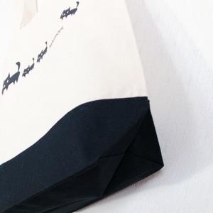 黒ネコ親子トートバッグ<M>