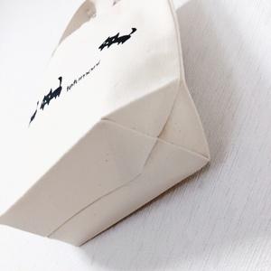 黒ネコ ミニトートバッグ(ナチュラル)